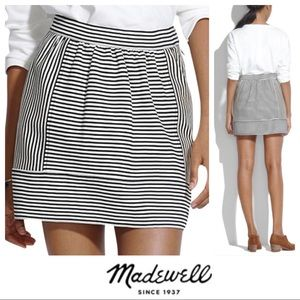 NWOT MADEWELL 8 Stripe Mini Skirt - Ponte Swivel